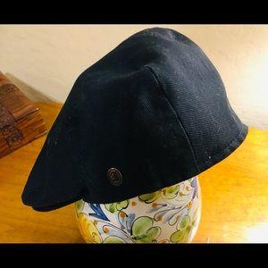 JAXON HATS COTTON FLAT CAP (BLACK)